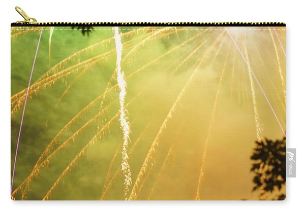 Yellow Fireworks Carry-all Pouch