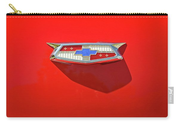 Chevrolet Emblem On A 55 Chevy Trunk Carry-all Pouch