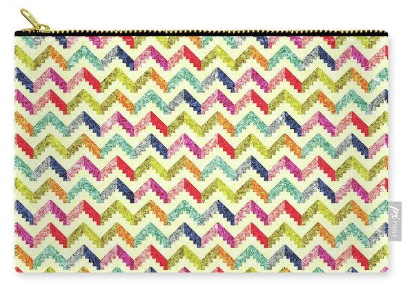 Chevron Multi Color Zigzag Pattern Carry-all Pouch
