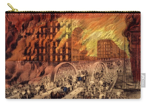 Chicago In Flames, 1871 Carry-all Pouch