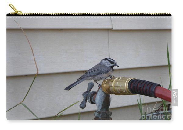 Chickadee On A Spigot Carry-all Pouch