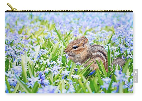 Chipmunk On Flowers Carry-all Pouch