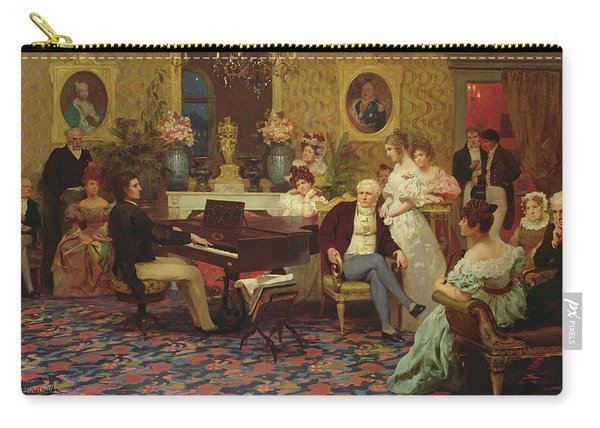 Chopin Playing The Piano In Prince Radziwills Salon Carry-all Pouch