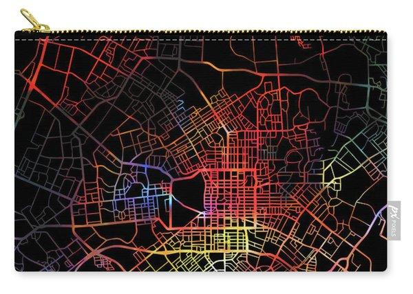 Christchurch New Zealand Watercolor City Street Map Dark Mode Carry-all Pouch
