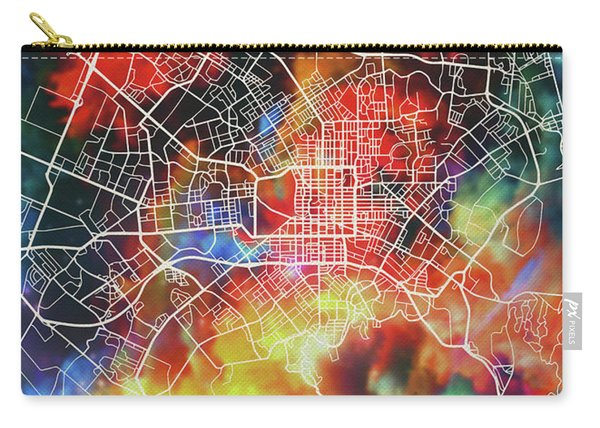 Christchurch New Zealand Watercolor City Street Map Carry-all Pouch