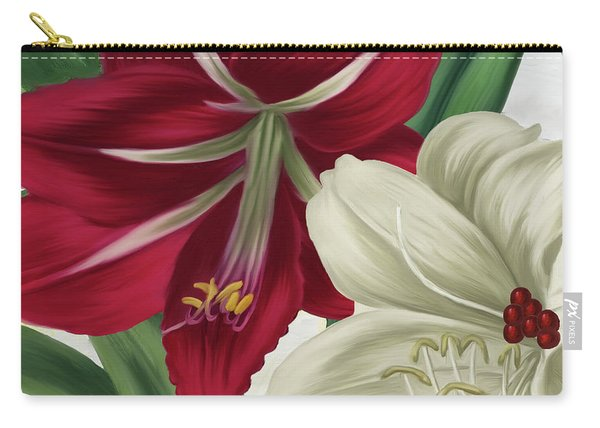 Christmas Amaryllis II Carry-all Pouch