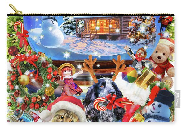 Christmas Globe Pets Carry-all Pouch