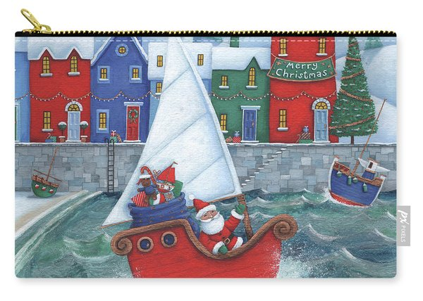 Christmas Harbour Scene Carry-all Pouch