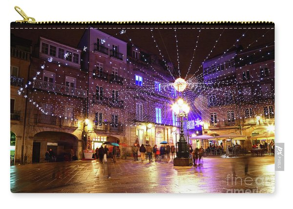 Christmas Lights In Historic Centre Of Vigo Spain Carry-all Pouch
