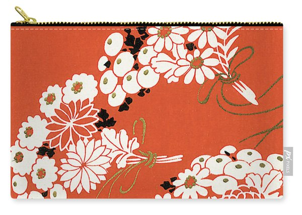 Chrysanthemum Ornamental Flowers Carry-all Pouch