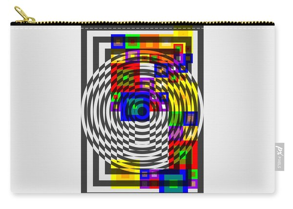 Circular Colour Fusion  Carry-all Pouch