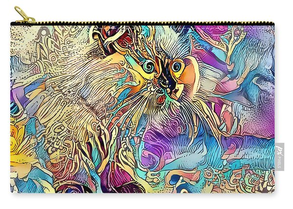 Carry-all Pouch featuring the digital art Circus Kitty by Don Northup