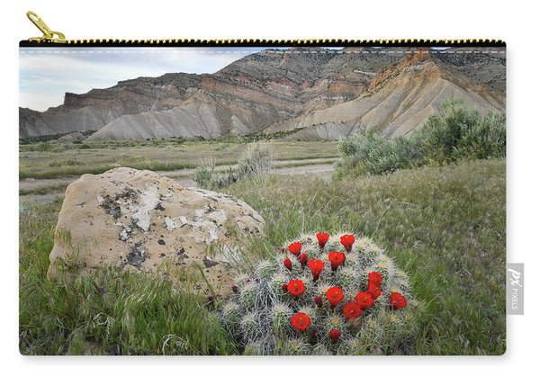 Clarion Cactus Blooms In Book Cliffs Carry-all Pouch