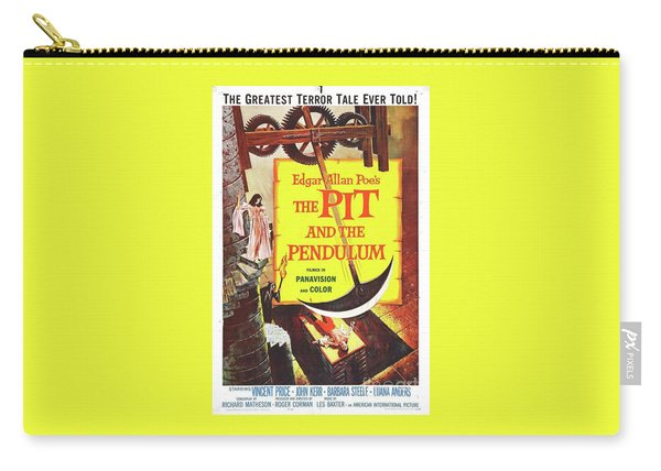 Classic Movie Poster - The Pit And The Pendulum Carry-all Pouch
