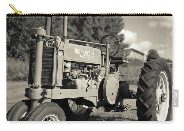 Classic Old Tractor Stowe Vermont Square Carry-all Pouch