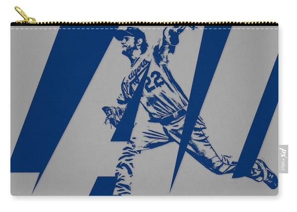Clayton Kershaw Los Angeles Dodgers City Art 2 Carry-all Pouch