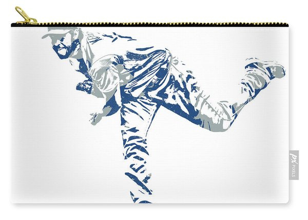 Clayton Kershaw Los Angeles Dodgers Pixel Art 31 Carry-all Pouch