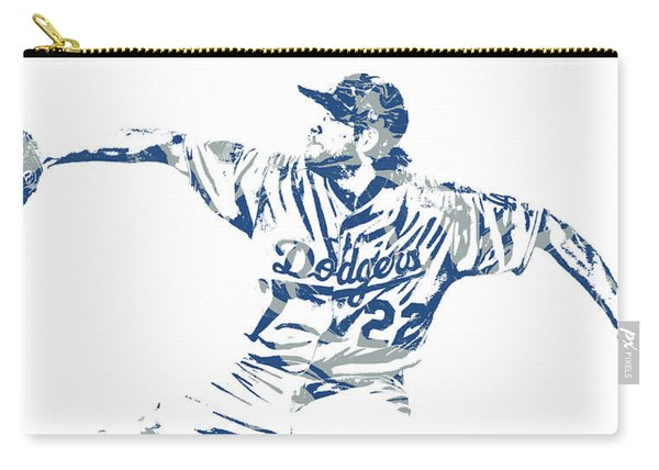 Clayton Kershaw Los Angeles Dodgers Pixel Art 50 Carry-all Pouch