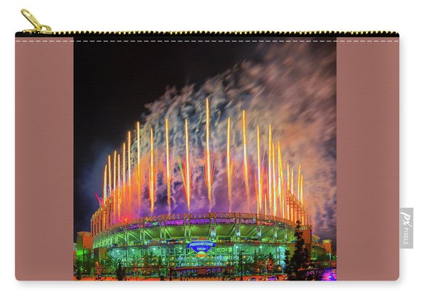 Cleveland Baseball Fireworks Awesome Carry-all Pouch