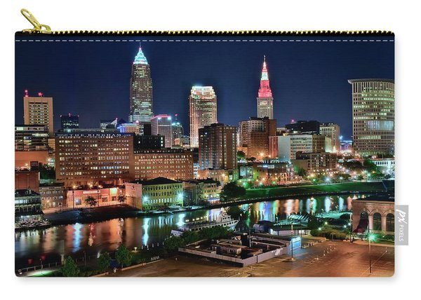 Cleveland Iconic Night Lights Carry-all Pouch