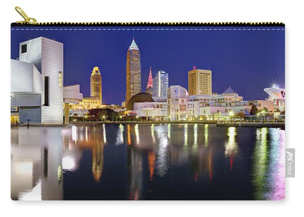 Cleveland Skyline At Dusk Rock Roll Hall Fame Carry-all Pouch