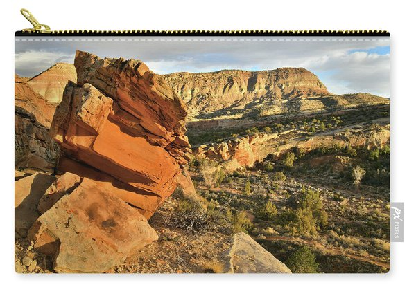 Cliffside Rock Cropping In Colorado National Monument Carry-all Pouch