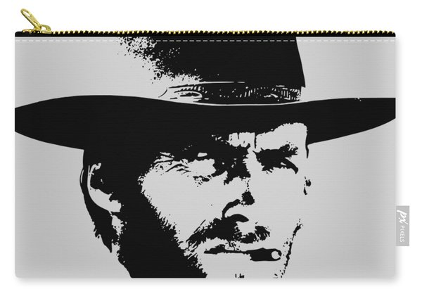 Clint Eastwood Minimalistic Pop Art Carry-all Pouch