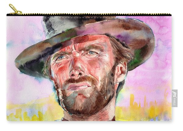 Clint Eastwood Portrait Carry-all Pouch