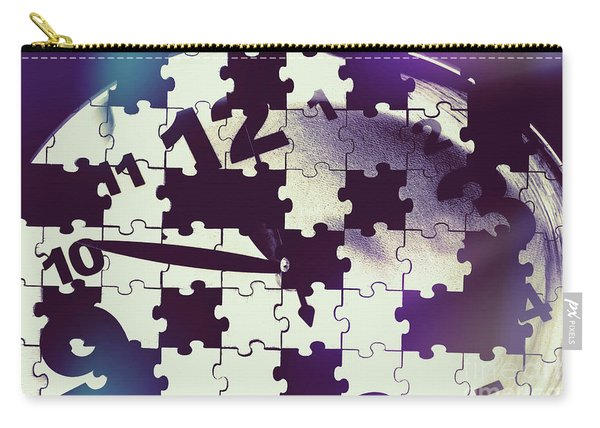 Clock Holes And Puzzle Pieces Carry-all Pouch
