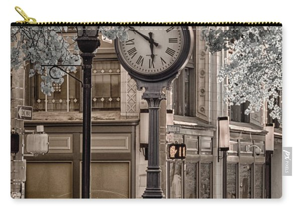 Clock On Street Carry-all Pouch