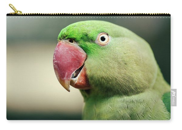 Carry-all Pouch featuring the photograph Close Up Of A King Parrot by Rob D Imagery