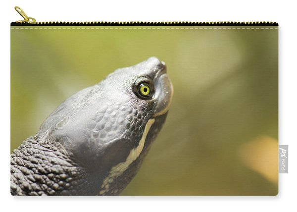 Close Up Of A Turtle. Carry-all Pouch