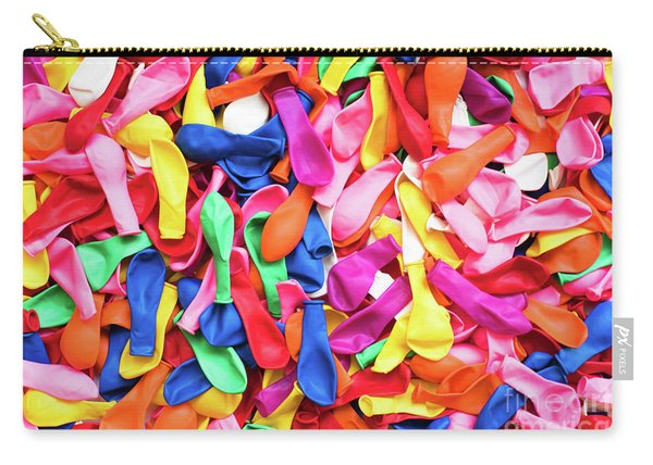 Close-up Of Many Colorful Children's Balloons, Background For Mo Carry-all Pouch