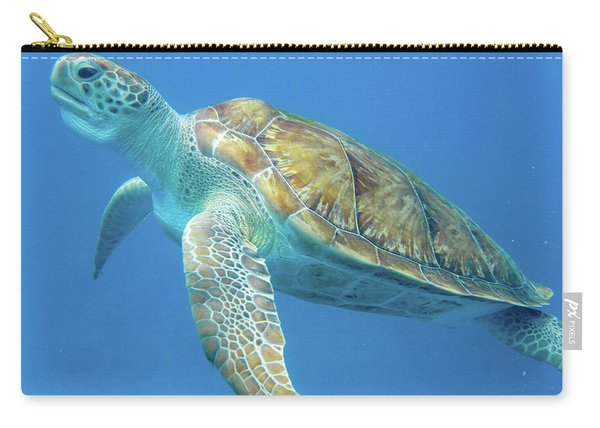 Close Up Sea Turtle Carry-all Pouch
