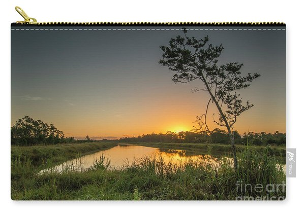 Carry-all Pouch featuring the photograph Cloudless Hungryland Sunrise by Tom Claud