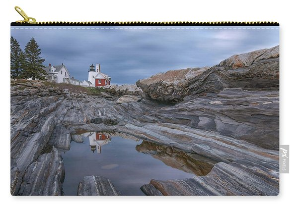 Cloudy Afternoon At Pemaquid Point Carry-all Pouch