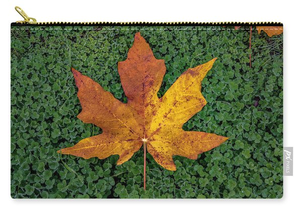 Clover Leaf Autumn Carry-all Pouch
