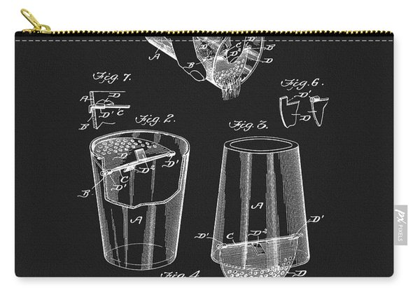 Cocktail Mixer Patent Carry-all Pouch