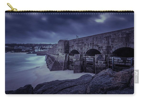 Cold Mood On The Pier Carry-all Pouch