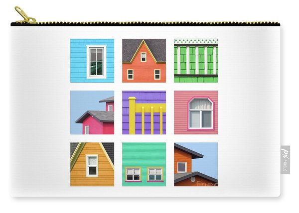Collage Of Details Of The Colourful Houses Of The Magdalen Islan Carry-all Pouch
