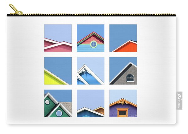 Collage Of The Rooftops Of The Magdalen Islands Carry-all Pouch