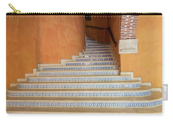 Carry-all Pouch featuring the photograph Colonial Stairs by Juan Contreras