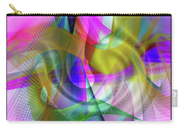Carry-all Pouch featuring the digital art Color Full by Visual Artist Frank Bonilla