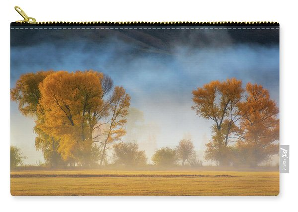 Carry-all Pouch featuring the photograph Colorado Autumn Fog by John De Bord