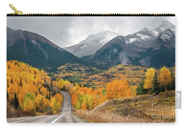 Carry-all Pouch featuring the photograph Colorado Hwy 145 by Susan Warren