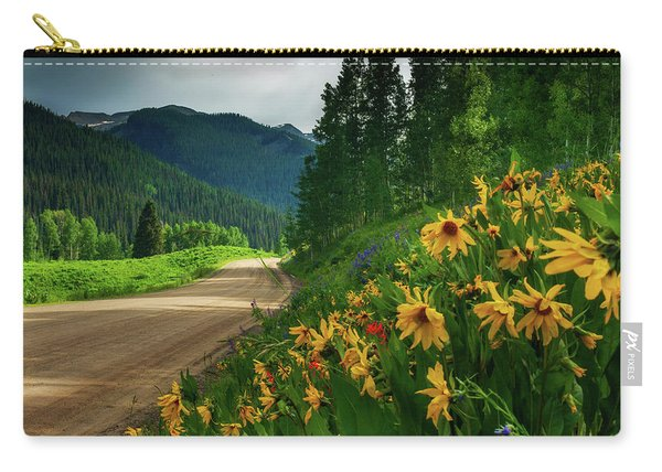 Carry-all Pouch featuring the photograph Colorado Wildflowers by John De Bord