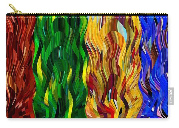 Colored Fire Carry-all Pouch