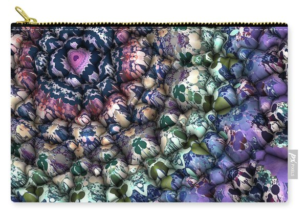 Colorful 3d Surface Carry-all Pouch