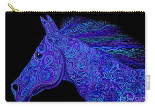 Colorful Blue Stallion Carry-all Pouch