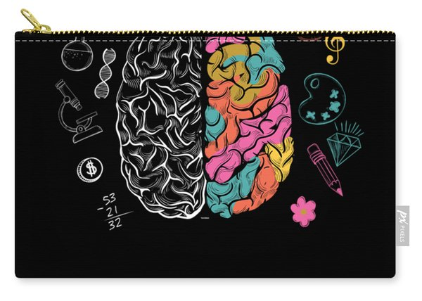 Colorful Brain Carry-all Pouch